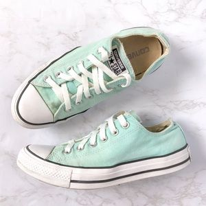 Converse All Star Teal Sneakers Size 8